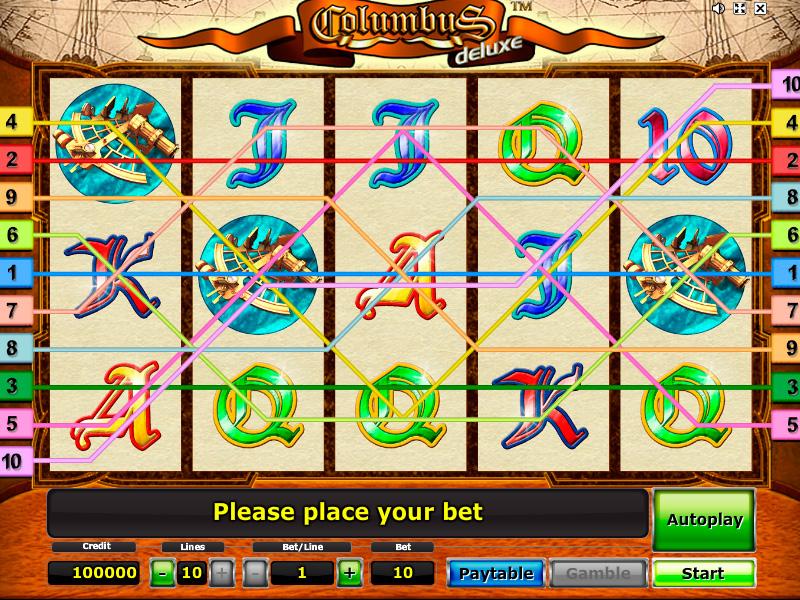 Игровые автоматы колумб делюкс играть бесплатно без регистрации казино вулкан текст