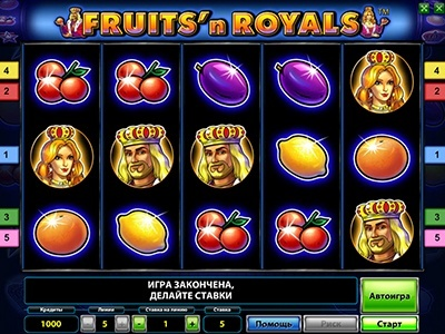 Игровой автомат Fruits and Royals Deluxe в клубе Вулкан